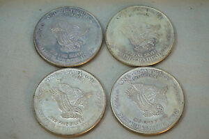 Us Assay Silver Rounds Lot 4 1981 999 Fine Silver Trade