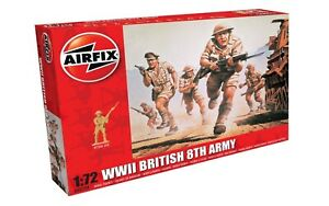 Airfix-00709-WWII-British-8th-Army-Soldiers-1-72-Scale-Plastic-Model-Figures