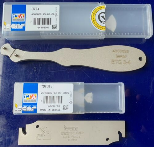 NEW ISCAR 3MM PARTING /& GROOVING TOOL TGFH 26-3 /& RELEASE KEY. TANG GRIP