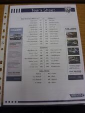 16/04/2011 Colour Teamsheet: West Bromwich Albion v Chelsea  . Thanks for viewin