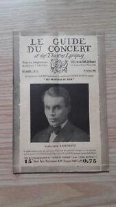El Guía de La Concierto Y Las Teatro Letra - Alexandre Arsenieff - N º 17-1929