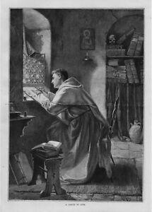 RELIGIOUS PRIEST LABOR OF LOVE HANDPRINTING ON VELLUM MANUSCRIPT INK BIBLE PAGES