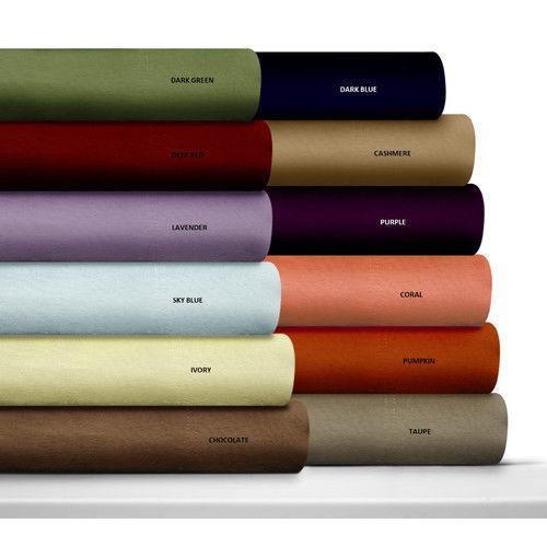 Egyptian Cotton 800-TC Bed Sheet Sets Twin-XL Size Multi colors Super Deep 4 PCs