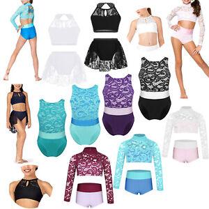 Girls-Kids-Ballet-Dress-Gymnastics-Dancing-Costume-Leotard-Tutu-Skirt-Dancewear