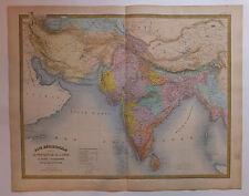 Inde Perse Afghanistan Asie carte map chez Andriveau-Goujon XIXème siècle