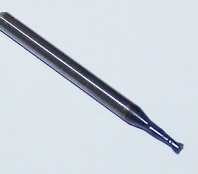 HHIP 5807-3750 AlTiN Coated Solid Carbide Single End Mill 3//8 Diameter 1 Flute Length 3//8 Shank 4-Flute