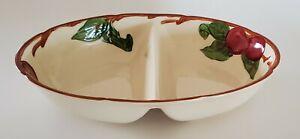 Franciscan Apple Divided Vegetable Serving Bowl Oval Gladding McBean & Co USA