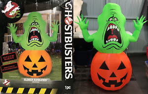 Ghostbusters-4-5-039-Slimer-Airblown-Halloween-Jack-O-Lantern-Inflatable-Lighted