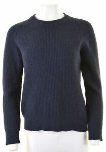FAT FACE Womens Crew Neck Jumper Sweater Size 6 XS Navy Blue Wool  EY22
