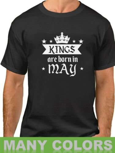 Kings Are Born In May Shirt Birthday Gift For Men T-Shirt Fathers Day Grandpa