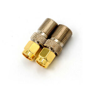 F-Buchse-auf-SMA-Stecker-gerade-HF-Coax-Koaxialstecker-Adapter-Heiss-WH