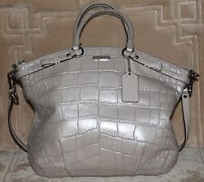 COACH F23042 MADISON Embossed Exotic SOPHIA Satchel/Shoulder Bag