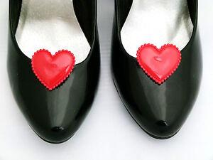 separation shoes 53e99 1635c Dettagli su REGINA di CUORI Shoe Clip Costume Scarpa clips cuori per Scarpe  Rosso- mostra il titolo originale