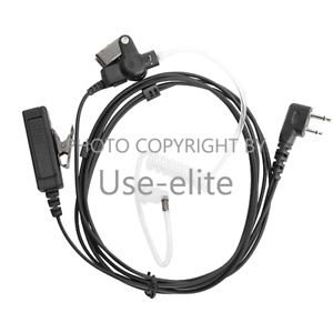 2-wire Headset Earpiece For ICOM IC-F3002 IC-F3003 IC-F3011 IC-F25 Handheld