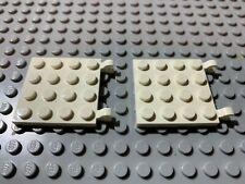 Horizontal Clips ID 11399 NEW White Four 4x4 Thin Plate Lego