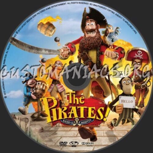 1 of 1 - The Pirates! - Band Of Misfits (DVD, 2012) Like New Free Shipping Australia 🇦🇺