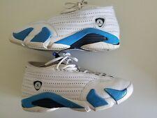 40553bf6cc04 1999 NIKE AIR JORDAN 14 (XIV) Shoes White Obsidian Columbia Blue RARE SZ 7.5