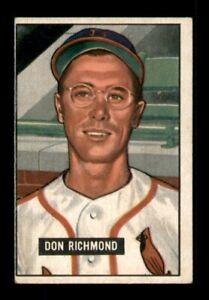 1951 Bowman Set Break # 264 Don Richmond VG-EX *OBGcards*