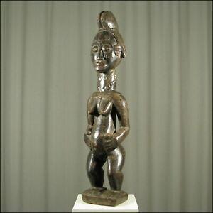 42695) Afrikanische Punu Fruchtbarkeits-Figur Gabun Afrika KUNST