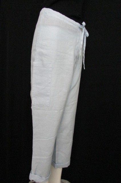 Taboo Basic Women bluee Classic Linen Summer Fashion Pants Cruise Trousers 32  10