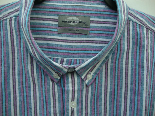 Cotone Manica Corta Camicia 2xl3xl4xl5xl Peter gribby Lino