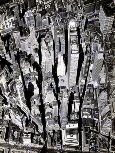 BLACK WHITE PHOTOGRAPHY AERIAL VIEW MANHATTAN CITY NEW YORK POSTERBB8059B