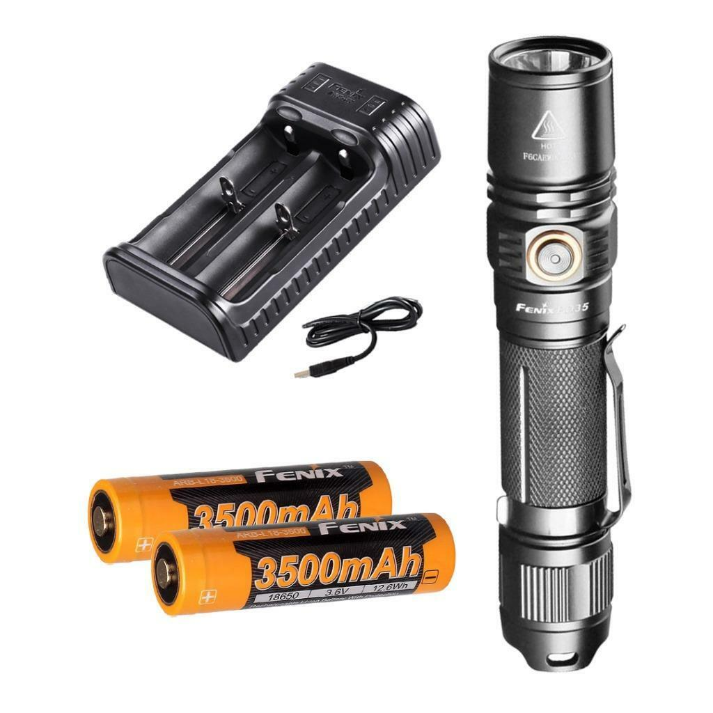 Fenix  PD35 V2.0 2018 Upgrade 1000 Lumen Tactical Flashlight Premium Charging Kit  the best selection of