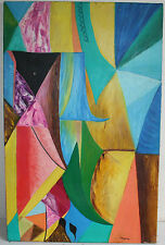 Youla Chapoval (1919-1951)  Large Abstract Oil Painting Listed Russian Artist.