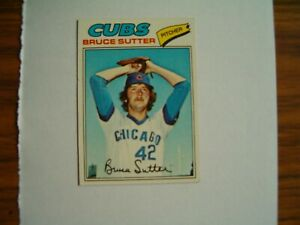 Bruce Sutter Signed 1977 Topps Card # 144 Autograph Cubs