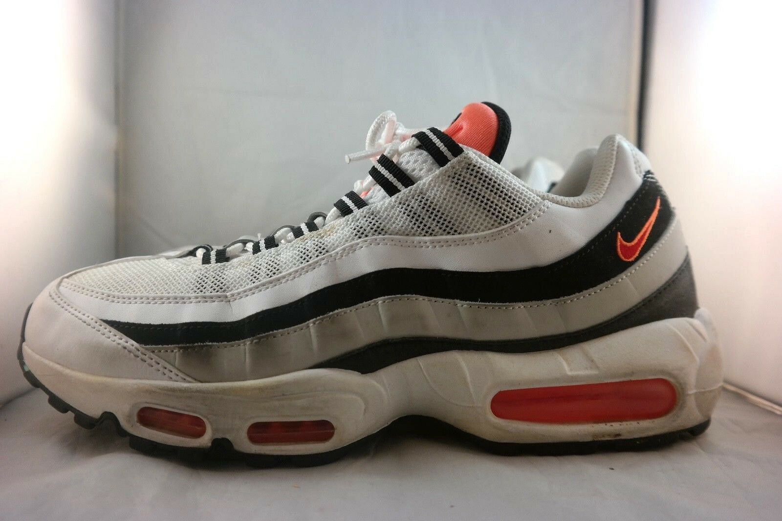 Nike Air Max 95 Men's Running Black/white/Orange 609048-086 SZ US 10.5