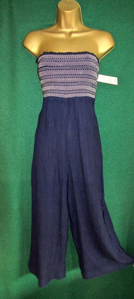 New MONSOON Dark bluee KAIA Strapless Playsuit Jumpsuit All-in-One
