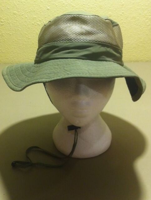Redhead Olive Green Outdoor Fishing Hat Draw String Mesh Medium M Bucket Hat 5a4e4f0208a
