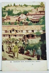 India-Market-Day-Darjeeling-India-Postcard-D19
