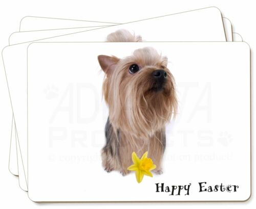 'Happy Easter' Yorkie Picture Placemats in Gift Box, ADY2DA1P