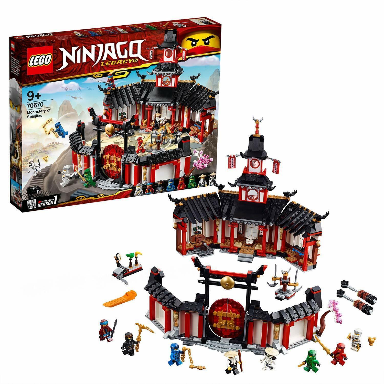 LEGO 70670 Ninjago Legacy Action Packed Monastery Of Spinjitzu Building Toy Set