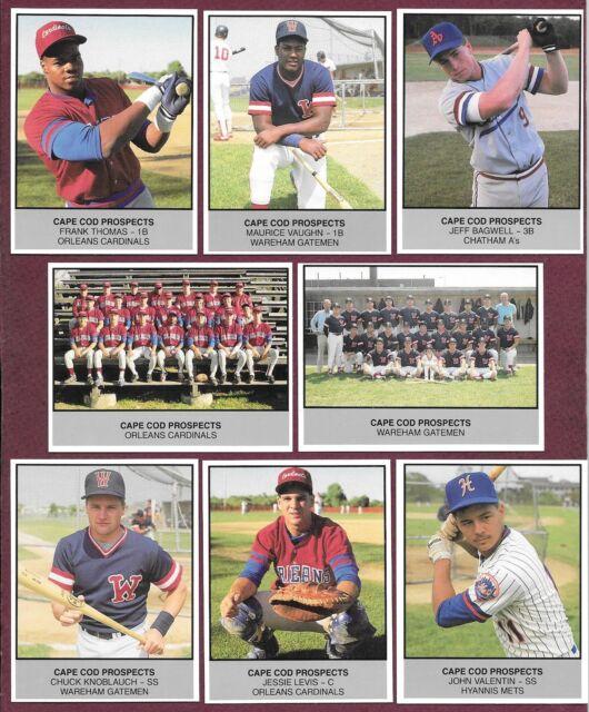 1988 Cape Cod Baseball League Prospects Set Thomas Vaughn Bagwell Knoblauch (30)