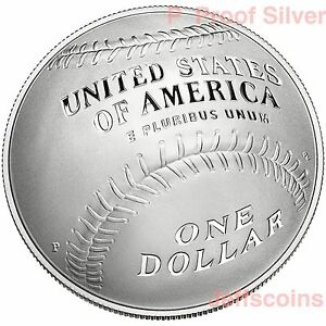 2014 National Baseball Hall of Fame Proof 90/% Silver Dollar Coin Box and COA