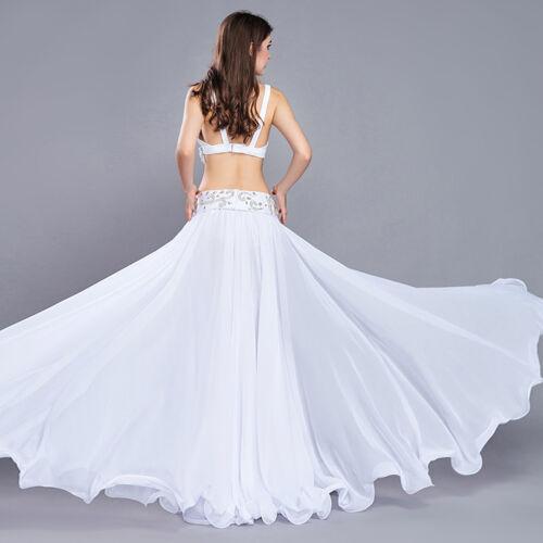 New High Quality Belly Dance Show Costume Bra/&Belt/&Skirt 34B 36B 38B 2 colors