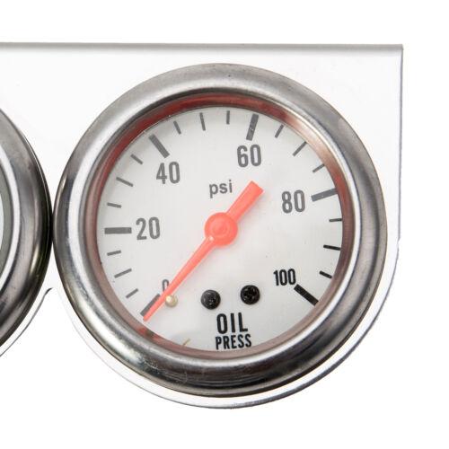 """2/"""" Triple Gauge Kit 3in1 Water Temperature Voltage Oil Pressure Gauge Car Meter"""
