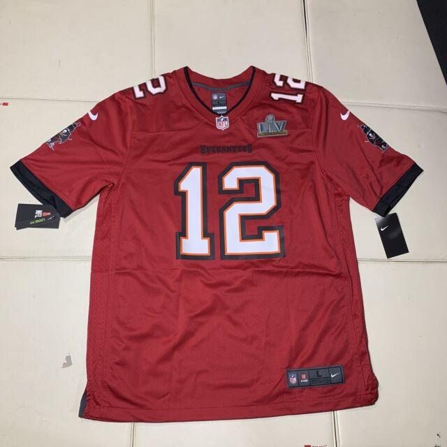 Men's Tampa Bay Buccaneers Tom Brady Nike Red Super Bowl LV Bound Game Jersey L