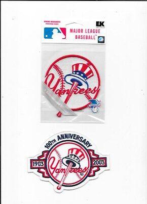 2 New York Yankees Nuovo Toppe 100 Anniversario Risparmia Il 50-70%