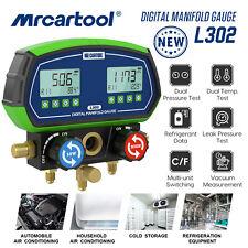 Refrigeration Digital Manifold Gauge Hvac Vacuum Dual Pressure Temp Leak Tester
