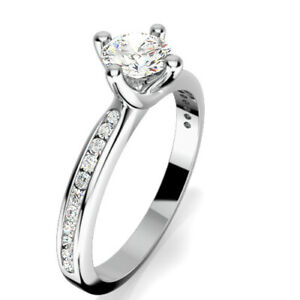 0-68-Ct-Diamond-Engagement-Ring-14K-Solid-White-Gold-Wedding-Rings-Size-5-6-7-8