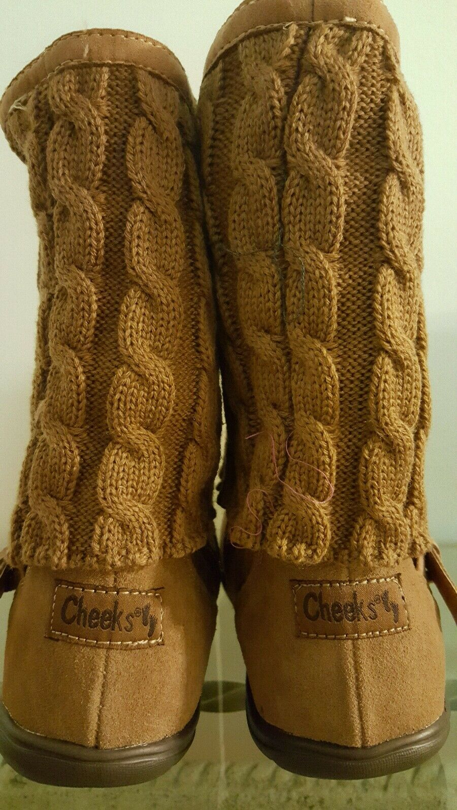Tony Little Cheeks Fit Fit Fit Body Boot, Women's Size 7.5  Camel NIB 0a5978