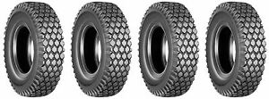 (FOUR)  4.10/3.50-4  4.10-4 3.50-4 4.10/3.50x4 Stud Tires Heavy Duty 4ply Rated