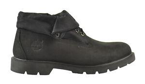 Details zu Timberland Basic Roll Top Men's Boots Black 6635a
