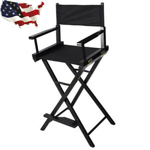Image is loading Professional-Makeup-Artist-Directors-Chair -Wood-Light-Weight-