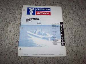 image is loading 1978-evinrude-55-hp-outboard-motor-shop-service-