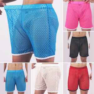 Mens-Hollow-Board-Shorts-Elastic-Trunks-Swimming-Surfing-Pants-Beachwear-Sports