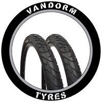 """PAIR of MTB Slick Tires 26"""" x 1.95"""" Vandorm Wind 195 Mountain Bike Tyres NEW"""